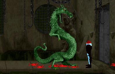 Un fatality del mortal 2, el de reptile